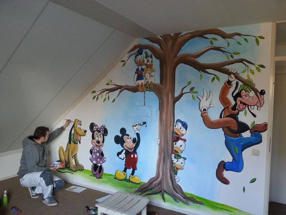 Mickey en Minie Mouse en vriendjes