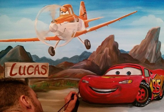 Planes en Cars met naambordje