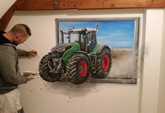 Fendt 3d schilderij