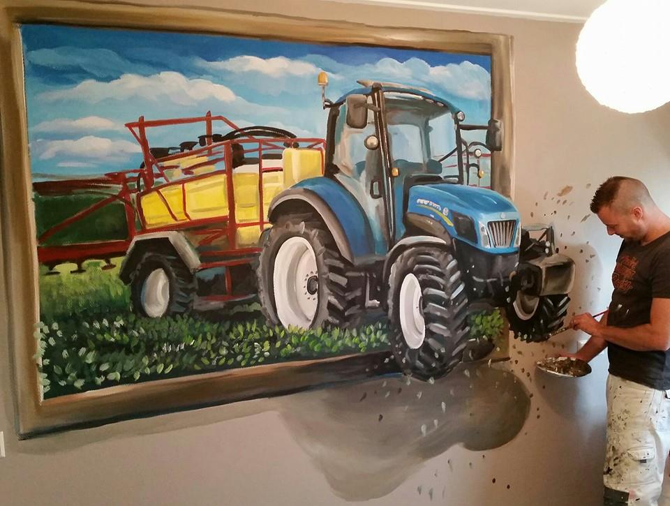 New Holland 3d schilderij