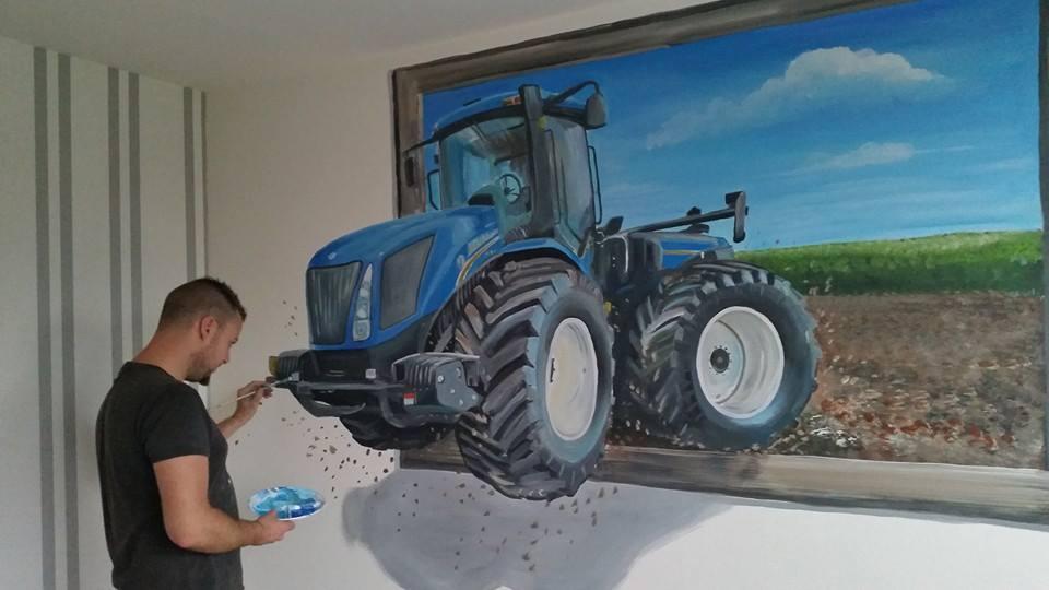 New Holland 3d schilderij