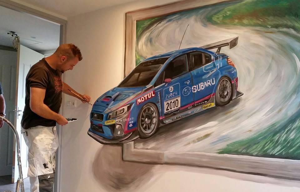 Subaru 3d schilderij