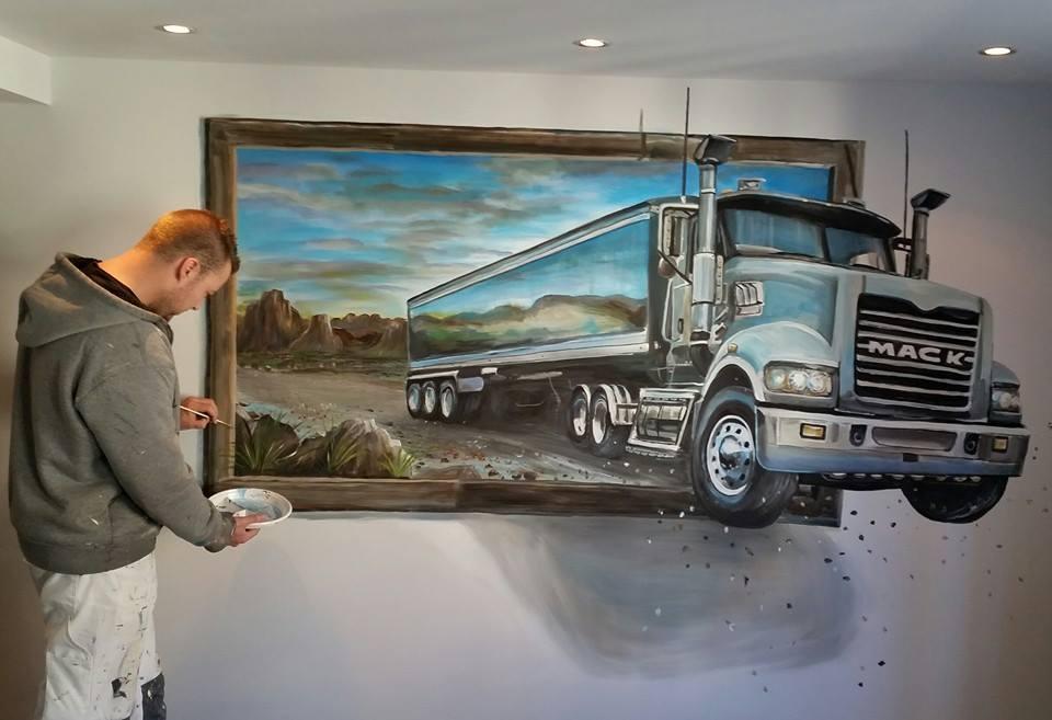 Mack 3d schilderij