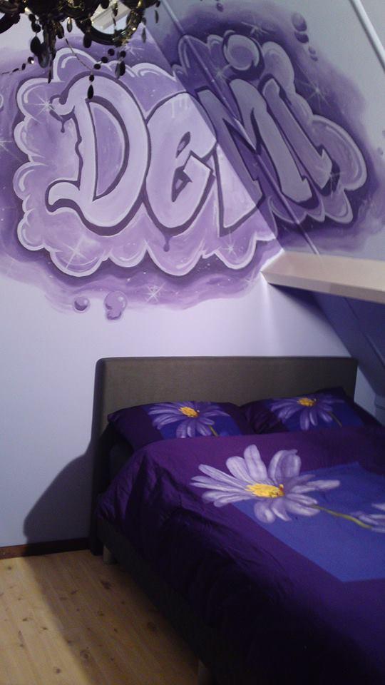 Naam in graffitiletters