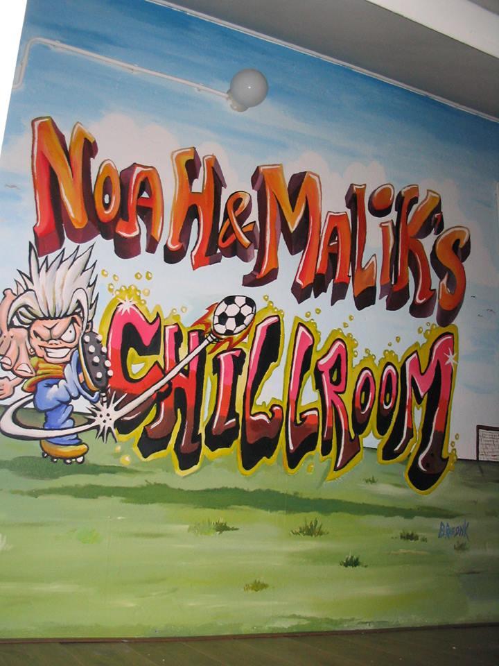 Speelkamer: Kindernamen in grafiti stijl