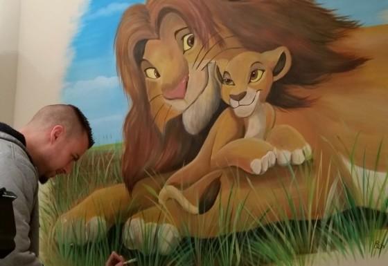 Lionkingmuurschildering