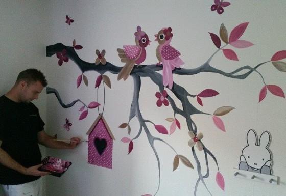 Tak met vogeltjes