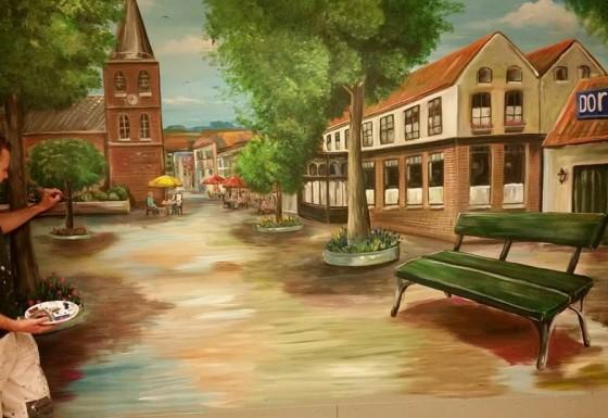 Antonia afdeling: het dorpsplein (Terborg)