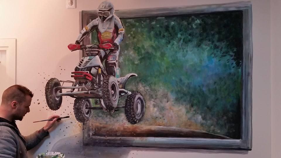 Werk/sleutel ruimte: Quad 3-d schilderij