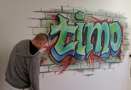 Timo graffiti style (geschilderd)