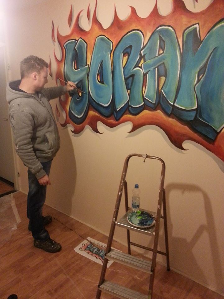 Naam in graffiti stijl