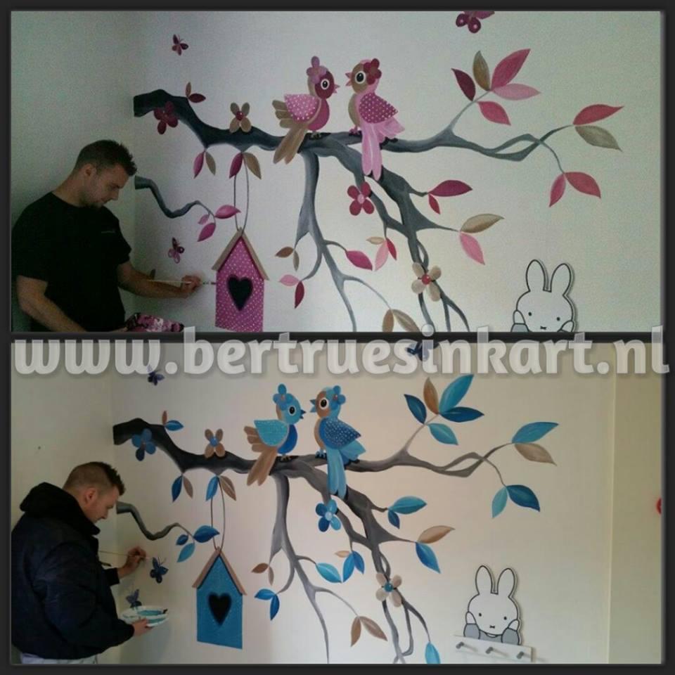 Bestaande muurschildering aangepast