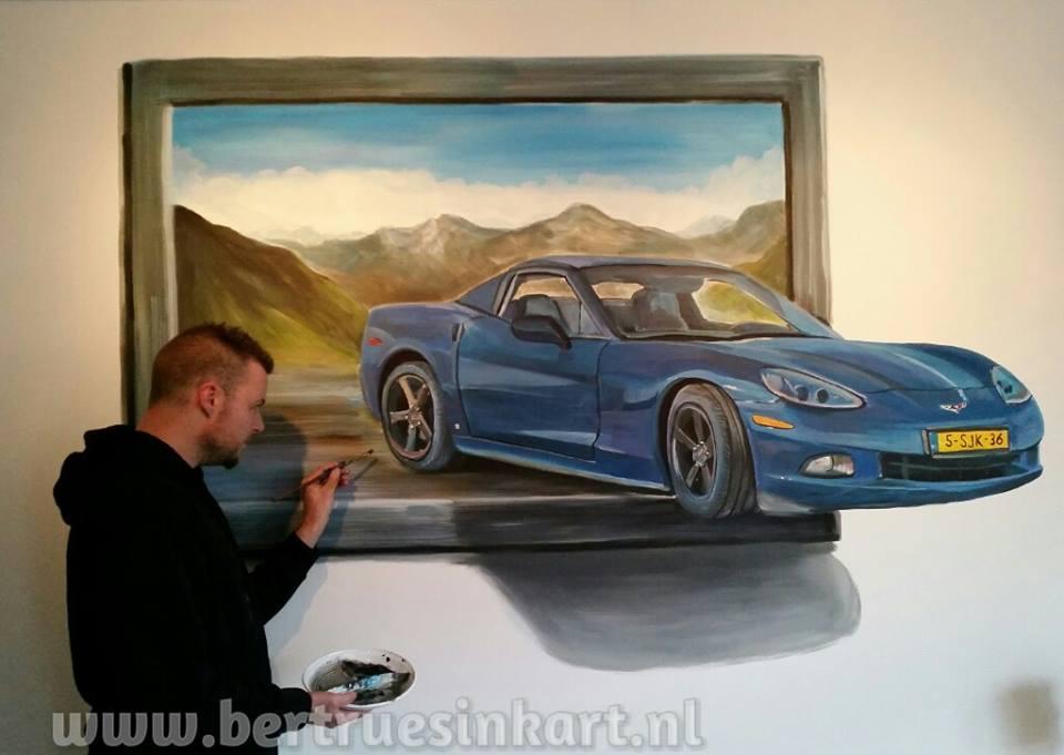Corvette – 3d schilderij