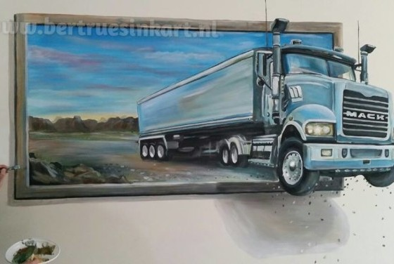 mack 3d-schilderij