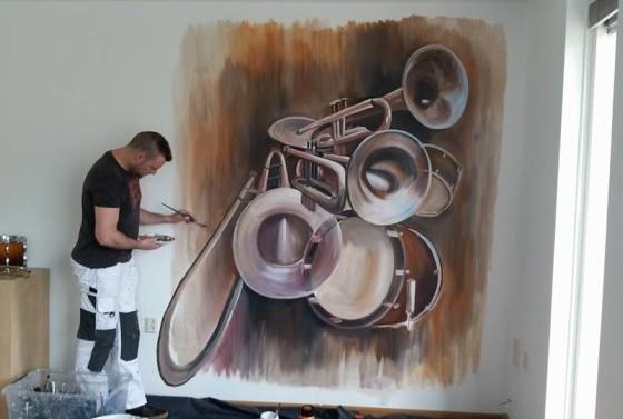 collage muziekinstrumenten