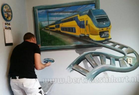 intercity 3d schilderij