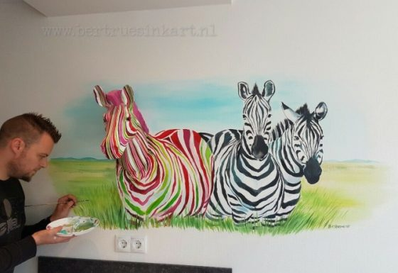 Kunstzinnige zebra's