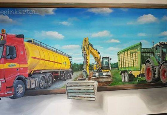 (paneel) W. Houbraken BV Loonbedrijf – Mestdistributie – Transport- en Loonbedrijf  (Bergeijk)