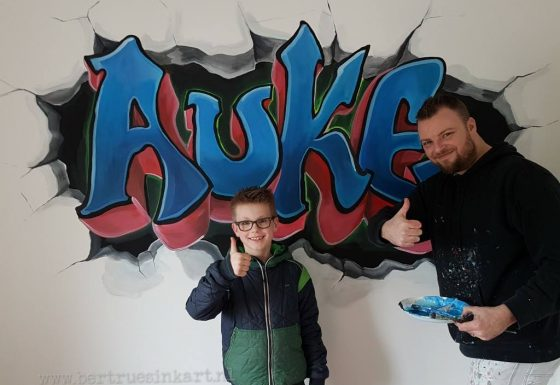 Auke in grafittistyle