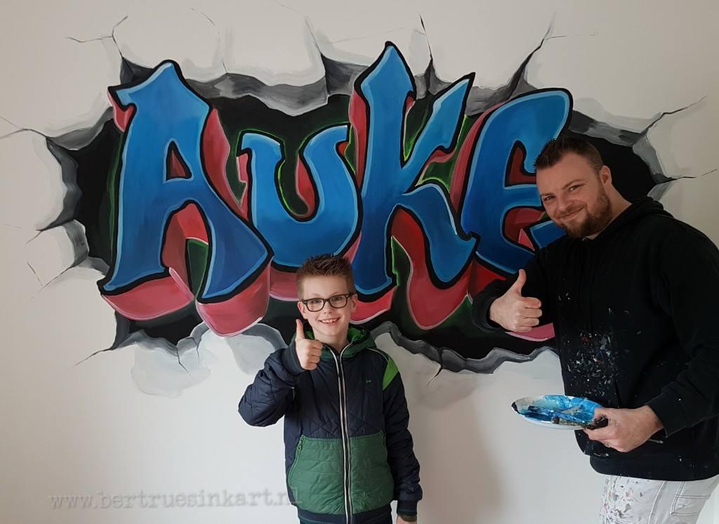 Auke in grafittistyle