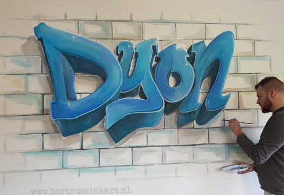 Dyon in grafittistyle