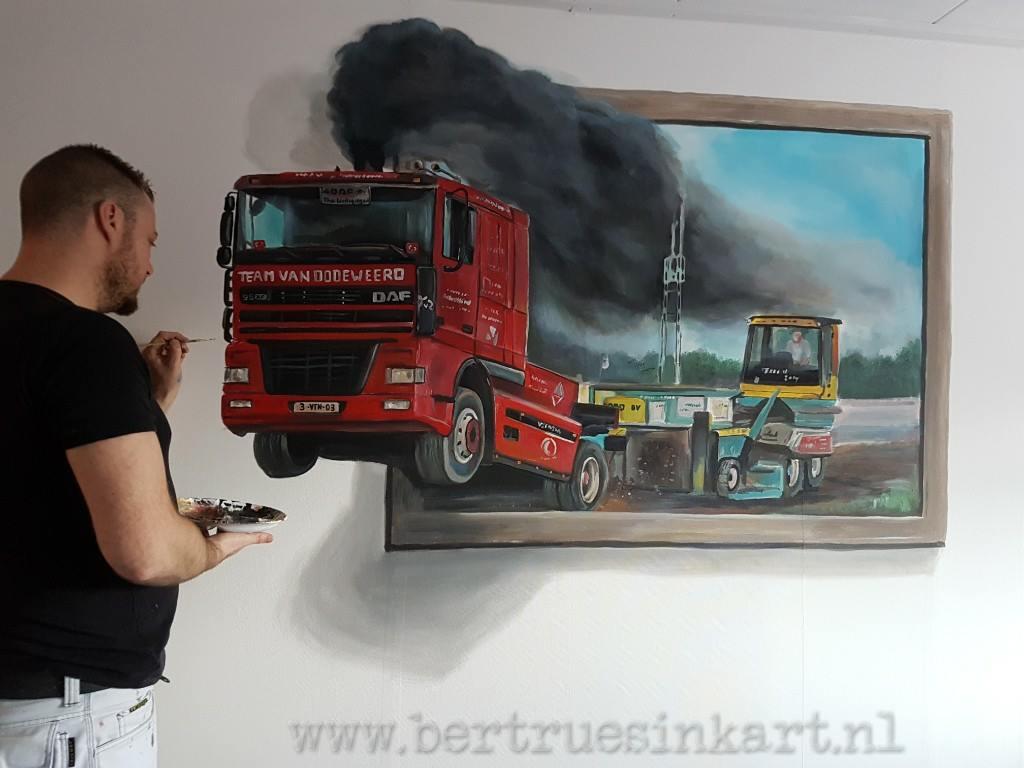 vrachtwagen 3d schilderij