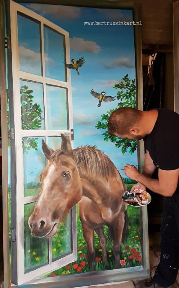 (paneel)Volkshuisvesting Arnhem paard (Arnhem)