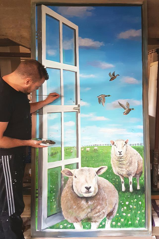 (paneel)Volkshuisvesting Arnhem schapen (Arnhem)