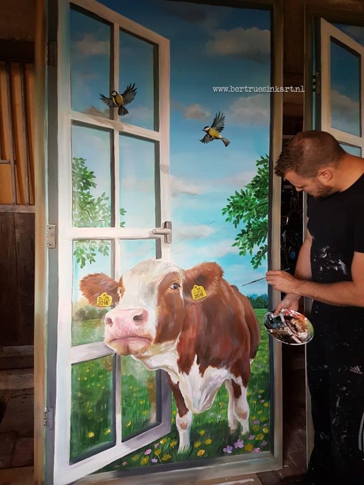 (paneel)Volkshuisvesting Arnhem koe (Arnhem)