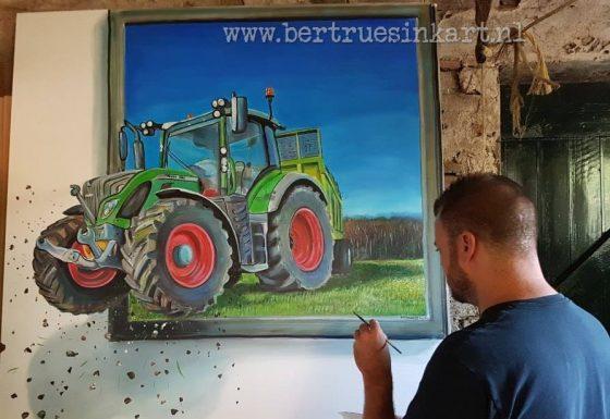 Fendt tractor 3d schilderij