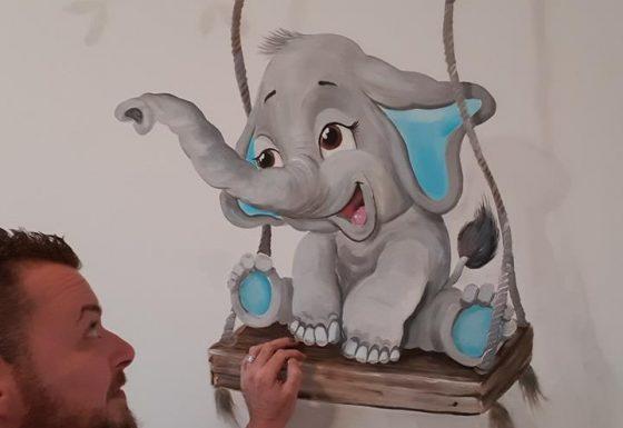 olifantje op schommel